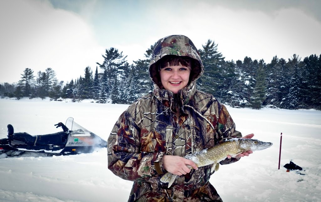 I am one happy camper with my Northern Pike!