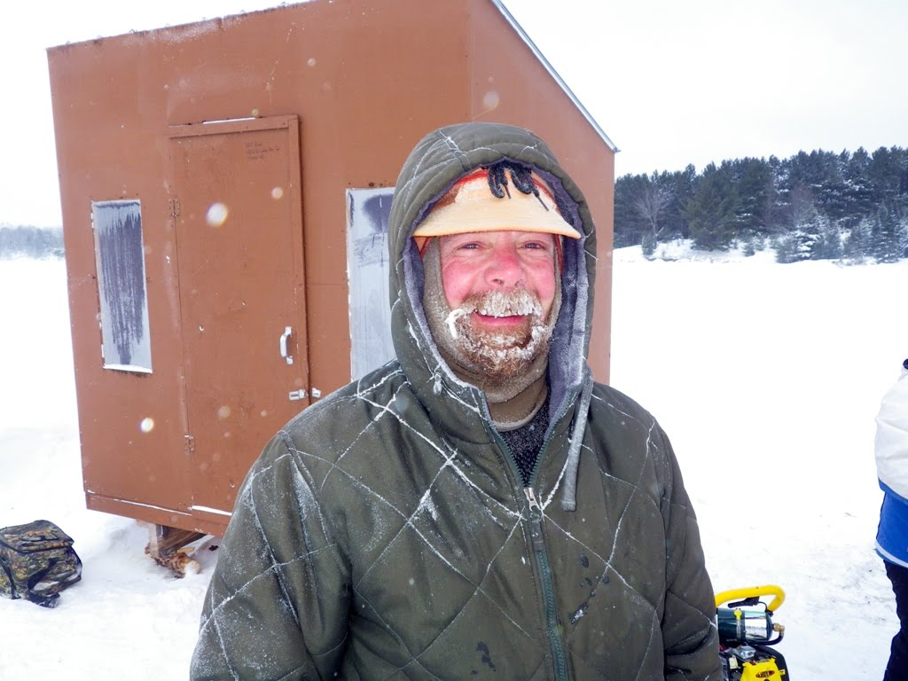 Jeff Robl – our fishing guide with his frozen beard.